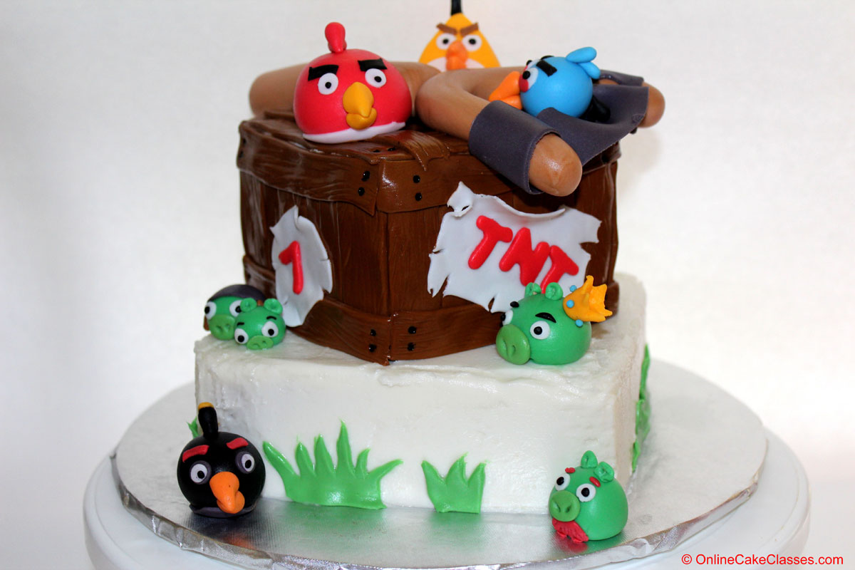 Angry Birds Cake   Online Cake Classes