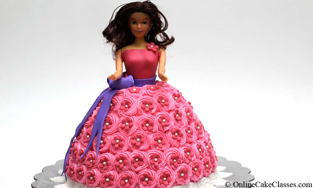 how to make a barbie doll cake